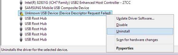 USB-Kontroller deinstallieren