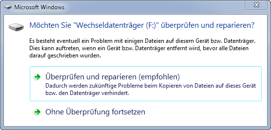 USB Stick reparieren