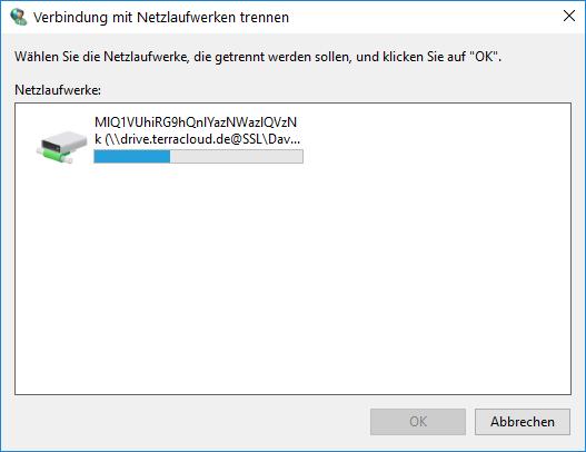Verbindung mit Netzlaufwerken trennen Windows