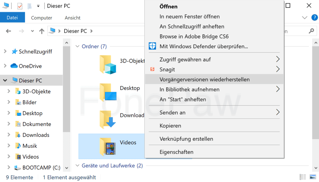 Vorgängerversionen Windows-Computer