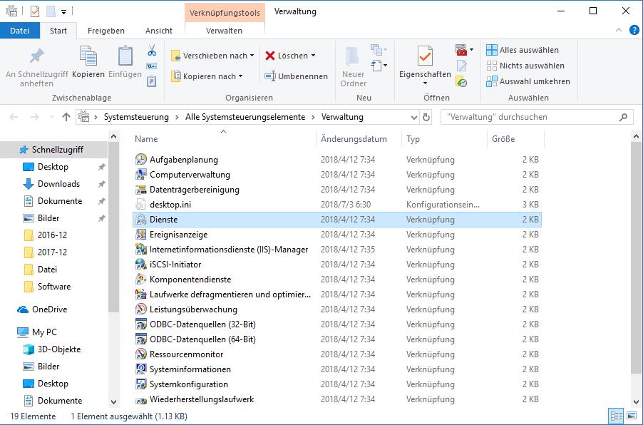 Windows Indexierungsdienst deaktivieren