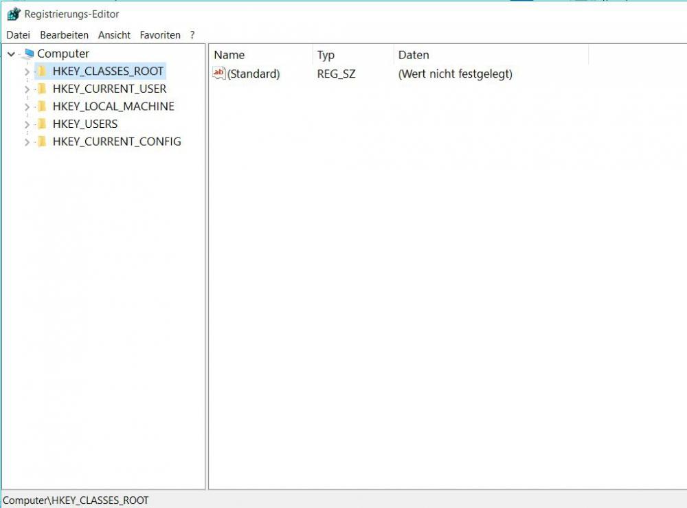 Windows Registrierungs-Editor aktivieren