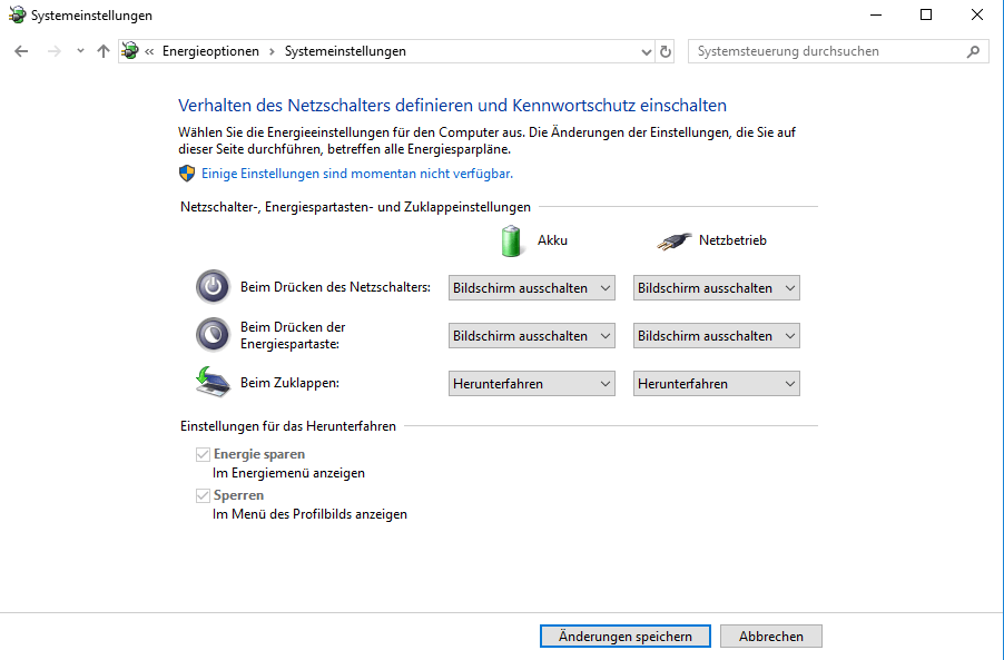 Schnellstart auf Windows deaktivieren