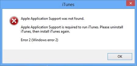 Apple Application Support konnte nicht gefunden werden