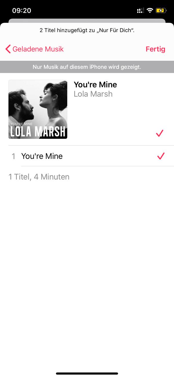 Apple Music Songs auf Playlist hinzufügen