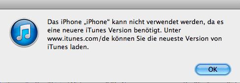 Das iPhone kann nicht verwendet werden