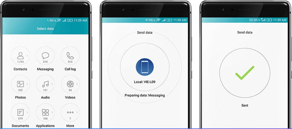 Daten von Sony auf Huawei synchronisieren Google Konto