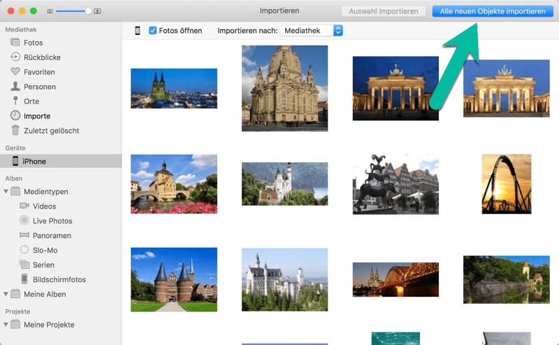 Fotos vom iPhone auf Mac übertragen mit der Fotos App