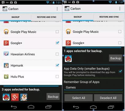 Android Apps Daten sichern wiederherstellen mit Helium