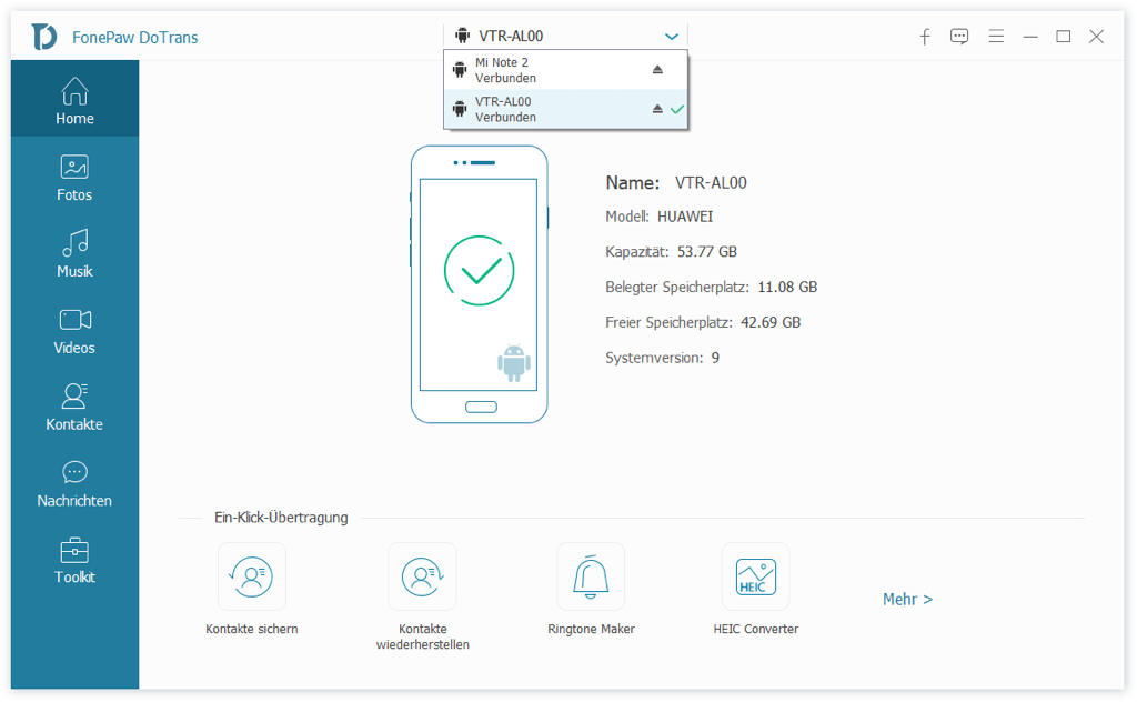 Huawei mit Xiaomi verbinden