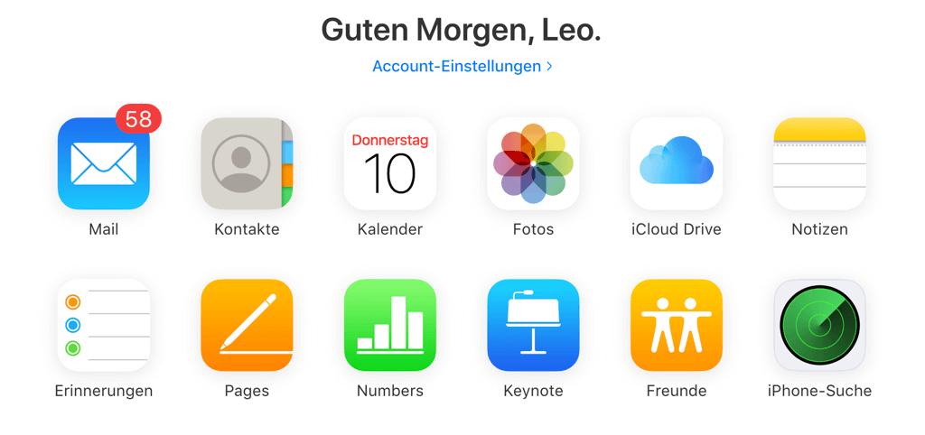 iPhone Fotos auf externe Festplatte über iCloud