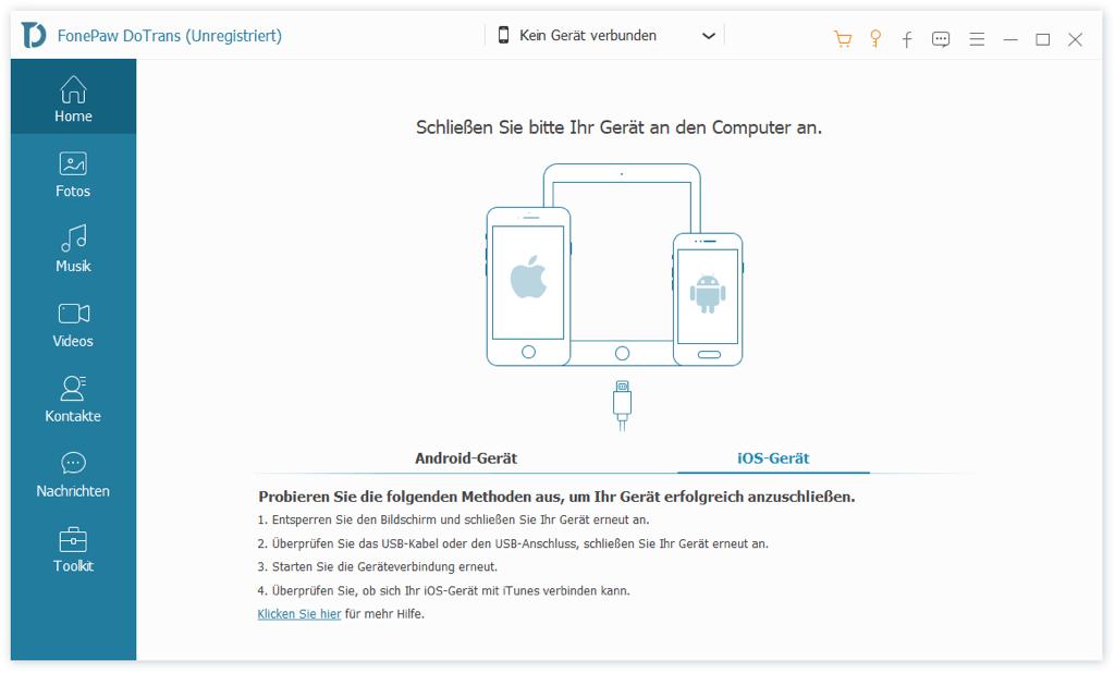 iOS Gerät verbinden