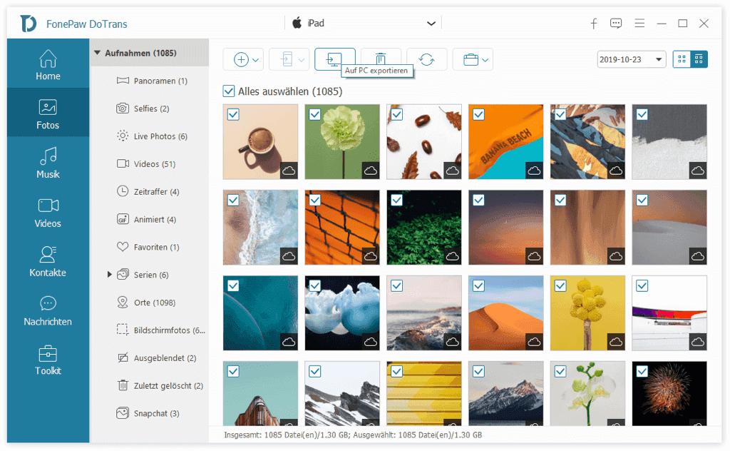 Fotos von iPad auf USB-Stick übertragen