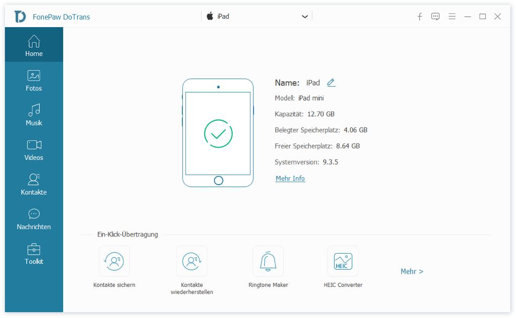 iPad mit USB Stick verbinden über DoTrans