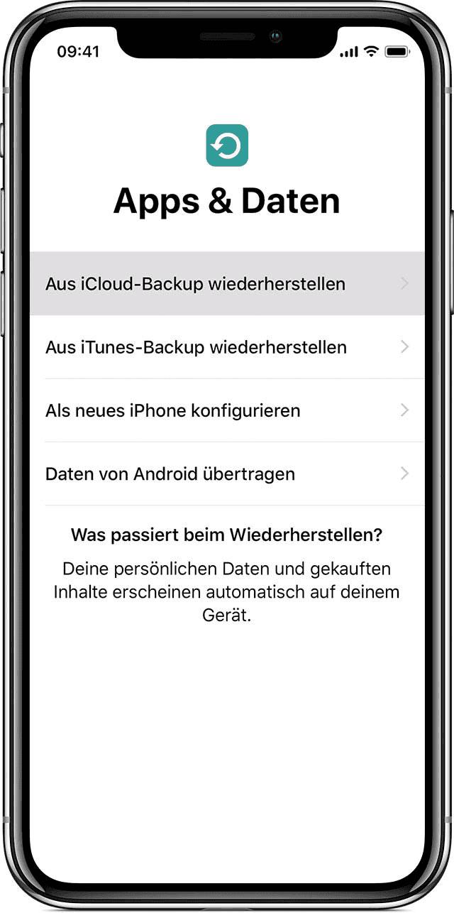 iPhone Apps und Daten
