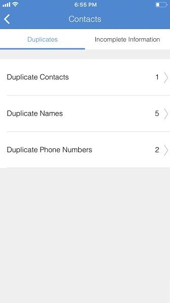 Doppelte Kontakte reinigen auf iPhone