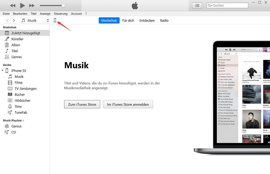 iPhone mit iTunes verbinden