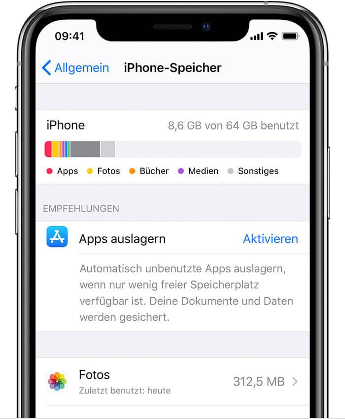 iPhone-Speicher checken