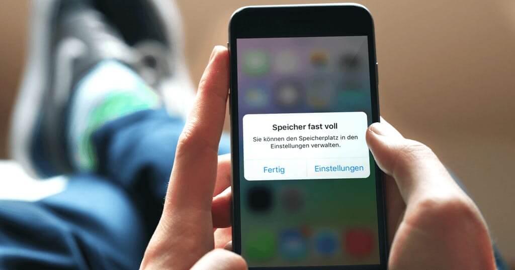 iPhone zeigt Speicher voll an, obwohl nichts drauf