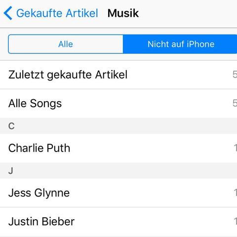 iTunes gekaufte Musik Nicht auf iPad