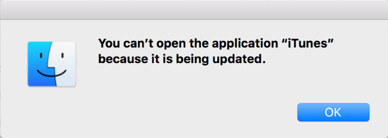 iTunes kann nicht geöffnet werden da es aktualisiert wird
