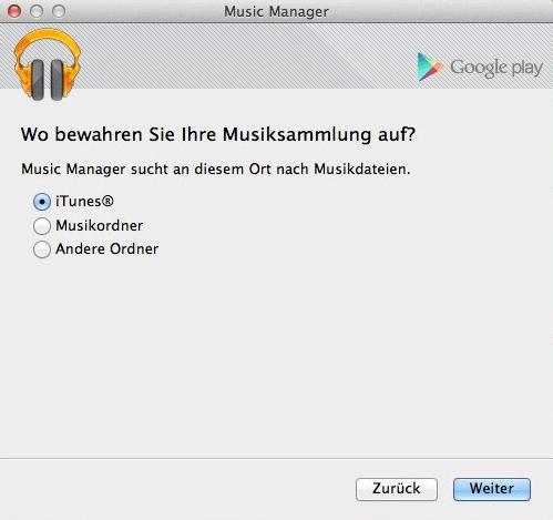 iTunes Musik auf Google hochladen Music Manager