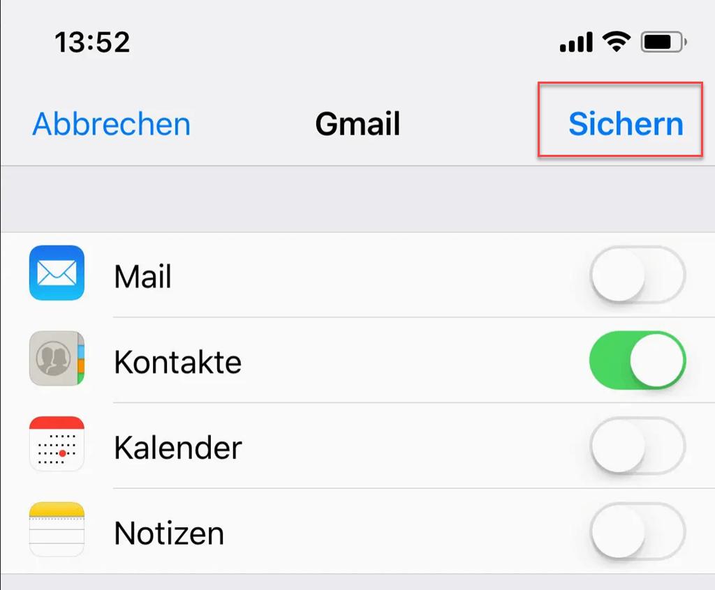 Iphone Kontakte Nach Gmail Übertragen