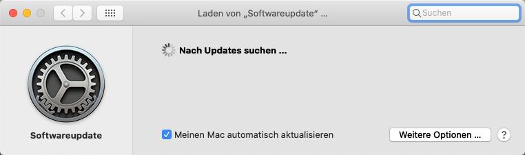 Mac Suchen nach Updates