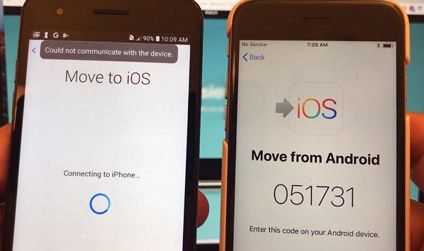 Move to iOS Kommunikation mit dem Gerät nicht möglich