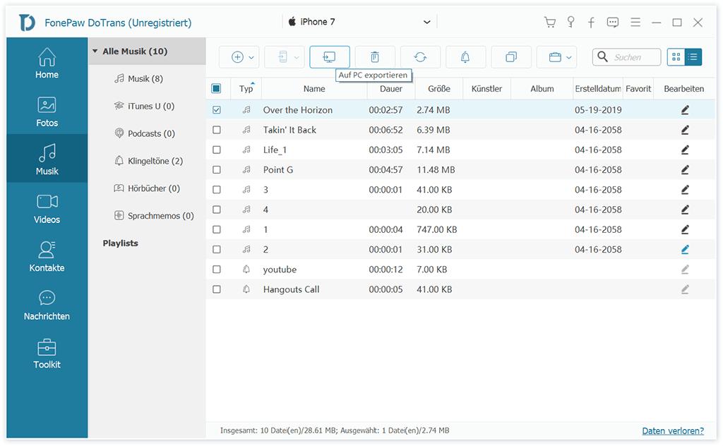 Dateien vom iPhone auf PC übertragen
