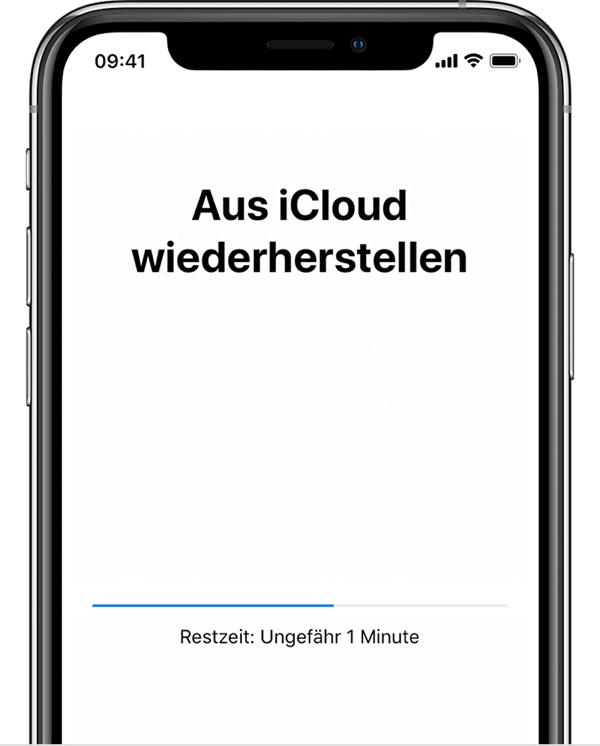 Daten aus iCloud auf das neue iPhone wiederherstellen