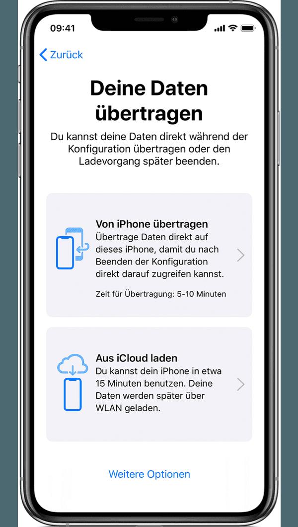 Deine Daten übertragen vom alten iPhone