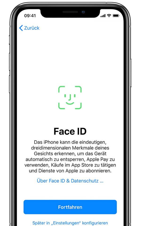 Neues iPhone konfigurieren Face ID