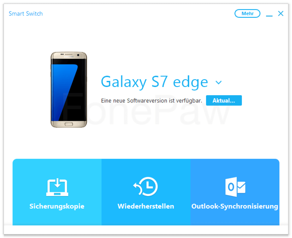 Galaxy mit Smart Switch verbinden