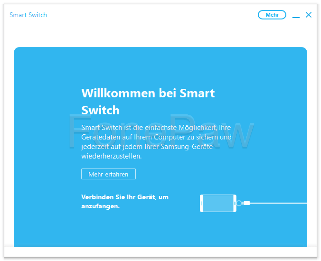 Samsung Smart Switch starten