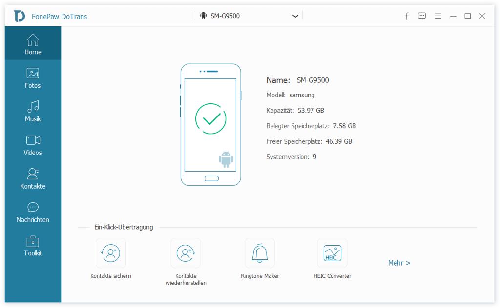 Android Handy mit PC verbinden