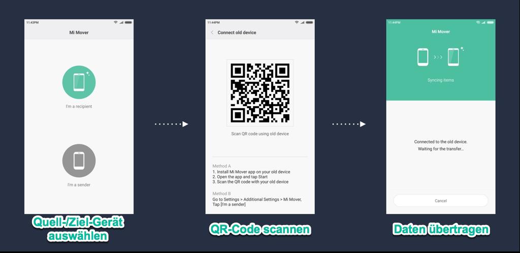 Samsung Daten auf Xiaomi übertragen Mi Mover