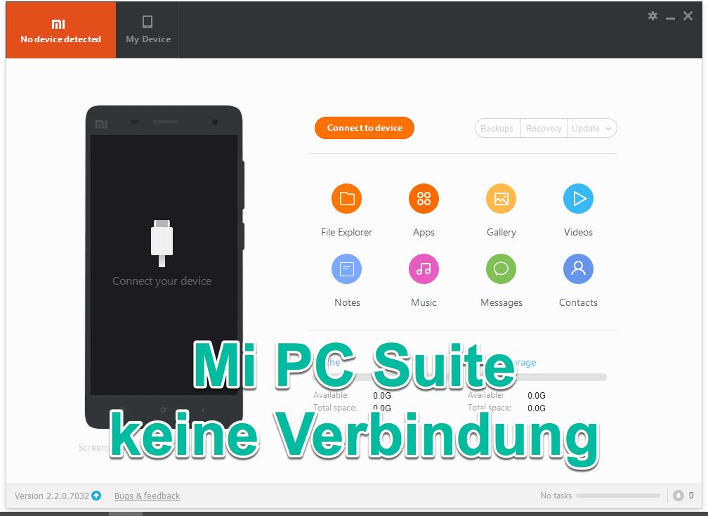 Mi PC Suite keine Verbindung