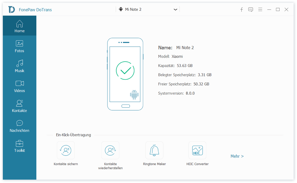 Xiaomi mit PC verbinden