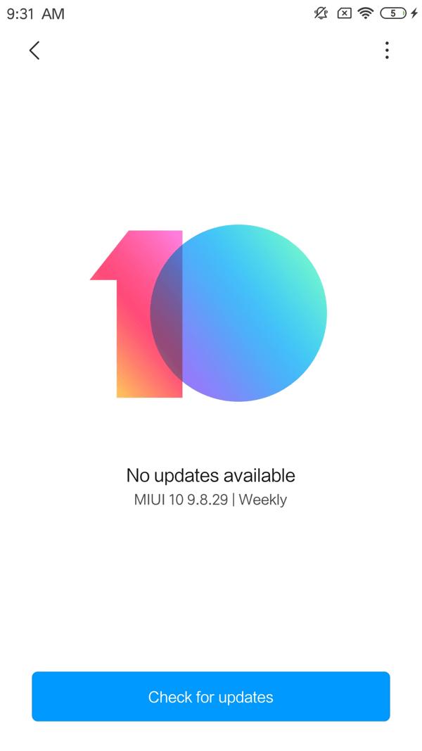 MIUI nach Updates suchen