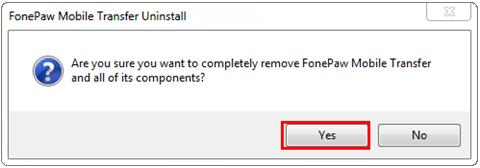 Fonepaw Handy Daten Transfer deinstallieren