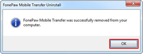 Fonepaw Handy Daten Transfer entfernen