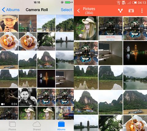 kopierte iPhone Fotos auf Android