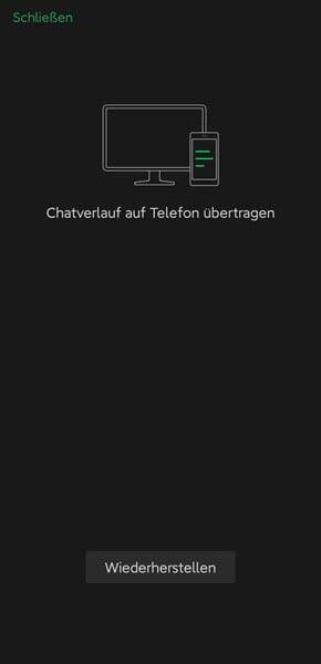 Chatverlauf auf Telefon übertragen