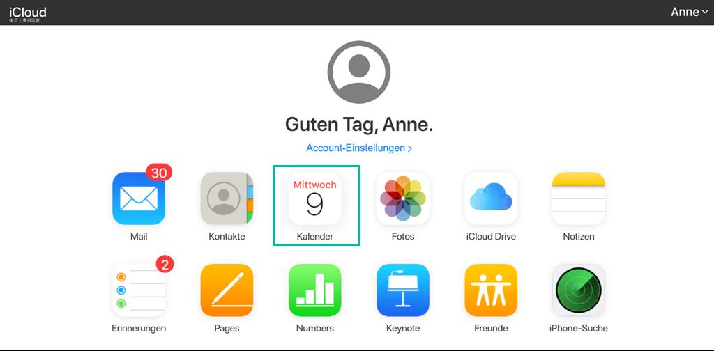iPhone Kalender iCloud