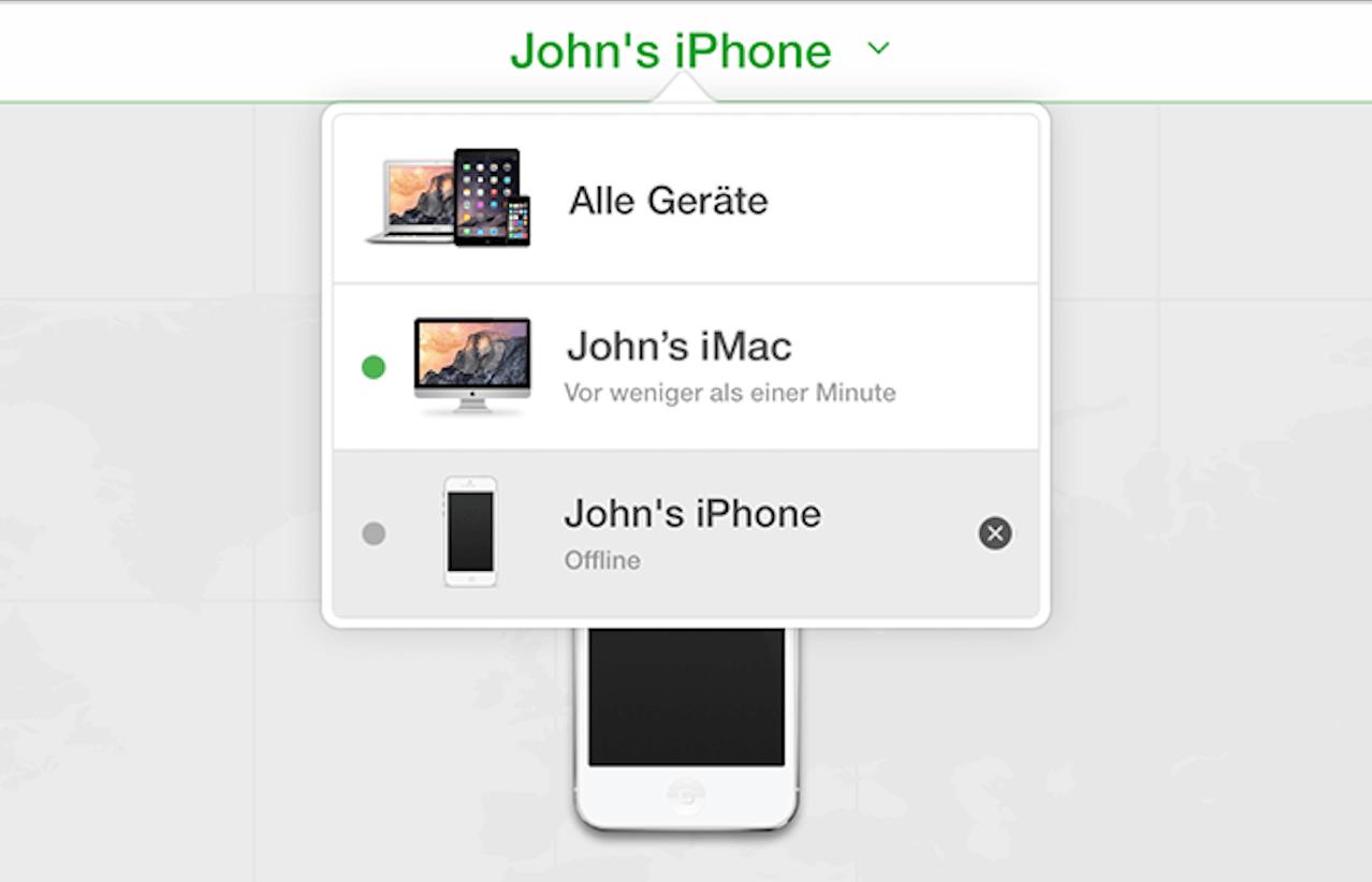 Mein iPhone suchen auf iCloud