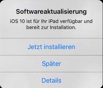 iOS-Software aktualisieren