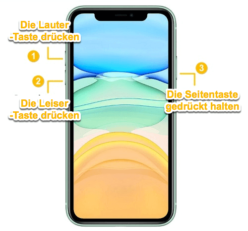 iPhone 11 Neustart erzwingen