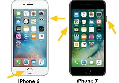 iPhone 7, 6 Neustart erzwingen