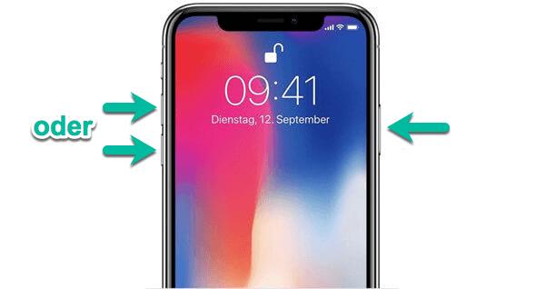 iPhone X neu starten